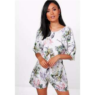 Backless floral playsuit *price reduced!
