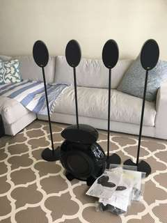 KEF home theatre speaker and subwoofer (5.1 including stands)