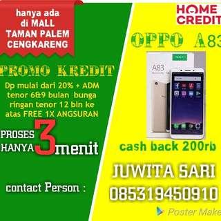 Oppo A83 cash back 200rb bisa kredit proses 3 menit