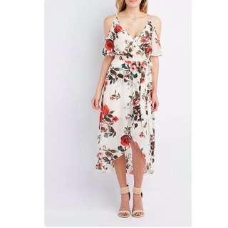 Floral Coldshoulder Dress - COD