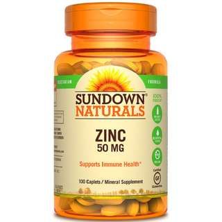 Sundown Naturals Zinc Gluconate 50mg, 100 tabs