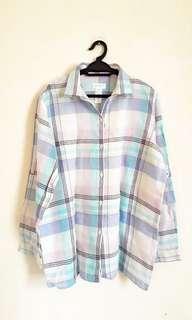 Liz Clairbone Plaid Long Slv Shirt