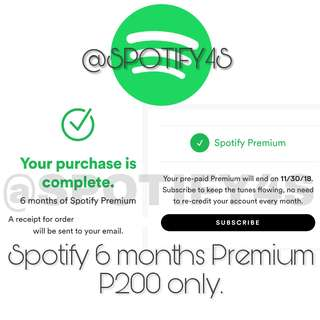 Spotify Premium for 6 months