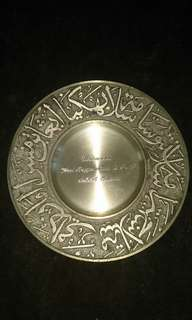 Pewter Plate (small)