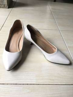 Mixit white high heels