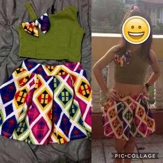 PreLoved Crop Top & Skirt