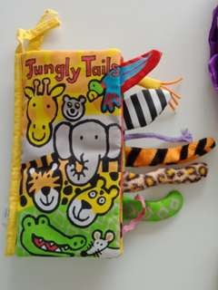 Jellycat Baby Cloth Book Jungly Tails
