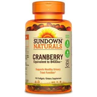 Sundown Naturals Cranberry Plus Vitamin D3, 150 softgels