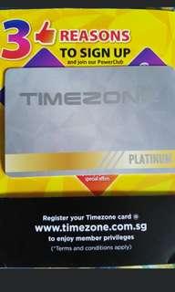 Platinium timezome card