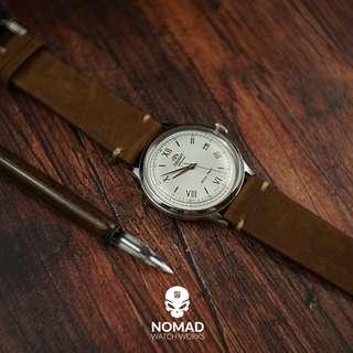 🚚 Premium Vintage Leather Strap in Rustic Tan