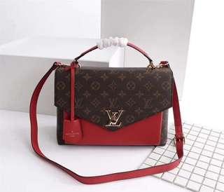 LV My Lockme Bag in Mono/Red