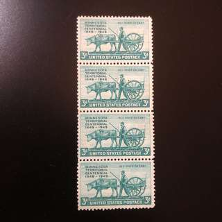 Stamp - USA 1949 - Minnesota Territoral Centennial 1949 (each $1 or all 4 for $3.5)