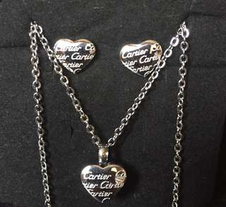 Cartier set of earrings and necklace
