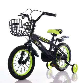 """🚚 Kid's Bicycle 14"""" AIER Sports Training Wheels Basket"""