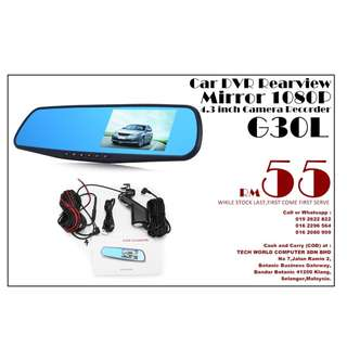Car DVR Rearview Mirror 1080P 4.3 inch Camera Recorder ( G30L )