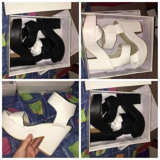 Thick high heels size 8 popcherry