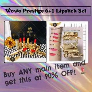 Wowo Prestige Luxury Lipstick set For only 1/10 retail price. With purchase with any main item
