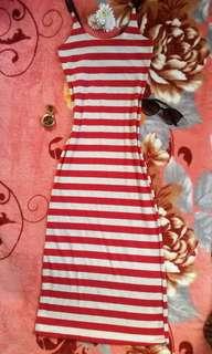Long stripes dress