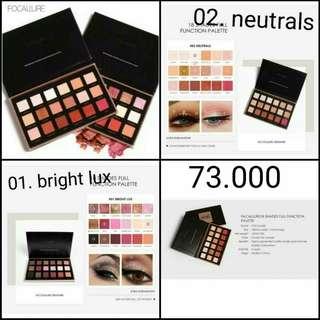 (PO) 18 Shades eyeshadow Palette Focallure Bright lux and Neutrals