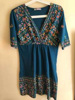 Floral Semi wrap Dress