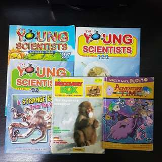 Young Scientists / Discovery Box/ Adventure Time ( 5 Books @ $4)