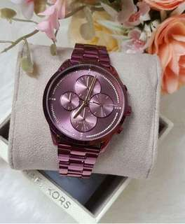 Michael Kors Slater Plum-tone Watch