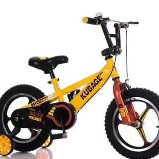 🚚 Kid's Bicycle KUBAGE Dozer Sports Rims Training Wheels