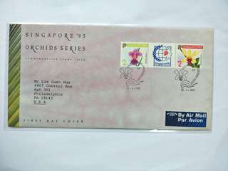 Singapore FDC Orchid 1991