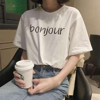 🚚 韓版字母T恤