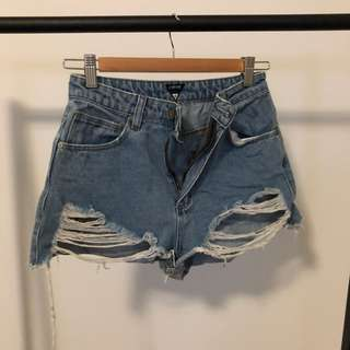 A Brand Distressed Shorts