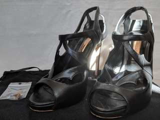 Rupert Sanderson signature black sandal high heels