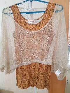Lace Top plus T-shirt