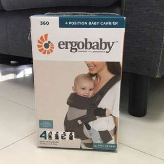 """NEW! Ergobaby 360 """"Cool Air Mesh"""" baby carrier"""
