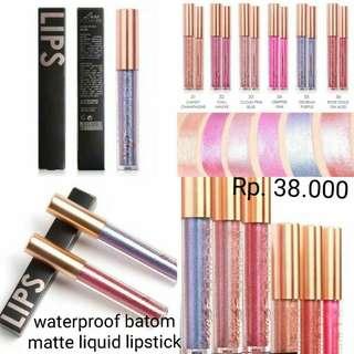 (PO) Waterproof Matte Liquid Lipstick Glitter Focallure