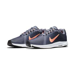 2018 Nike US7.5 Downshifter 8 Carbon/Crimson Pulse/Thunder Blue Runners Sneakers