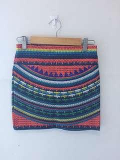 Zara Colored bandage skirt