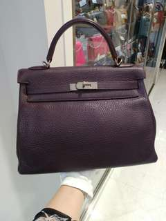 Hermes kelly 32 raisin