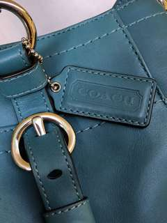Authentic Coach Chelsea Teal Genuine Leather Tote Bag