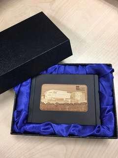 Black Wooden Name Business Card Holder
