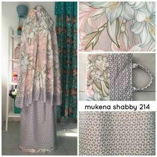 Mukena Shabby chic bhn katun premium ( RESTOK !! )