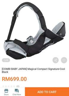 Combi magical confort baby carrier 4 way