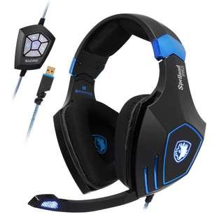 SADES Spellond Pro Professional Multiplayer USB Gaming Headphone
