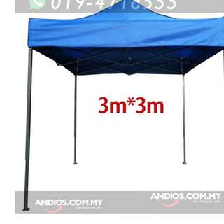 3x3m Outdoor Canopy Tent Folding Marquee Party Raya Ramadan Pasar Khemah