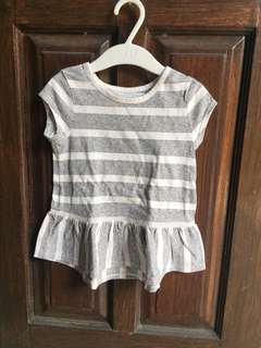 Peplum shirt grey