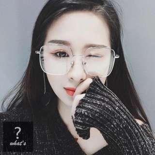🚚 👓珍珠造型腳架平光眼鏡👓