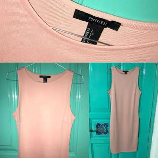 forever21 peach simple dress