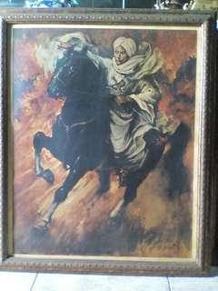 Lukisan Pangwran Diponegoro (cpy spanyol/prancis.?) 78x62
