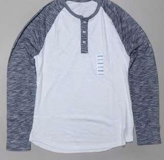 Old navy henley Tshirt blue