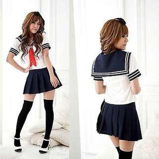 White Japanese School Uniform