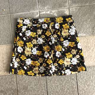Forever 21 Autumn Floral A Line Skirt